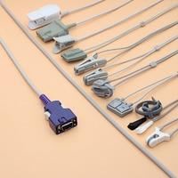 3m Nellcor N550/560/600/595 DOC 10 Oximax Spo2 sensor cable for adult/pediatric/child/Neonate/vet,Finger/Ear/Foot/Forehead Probe