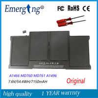 """7.6v 54.4Wh Nouveau Original A1496 batterie d'ordinateur portable pour Apple MacBook Air 13 """"A1466 2013 2014 MD760 MD761 Avec outils"""