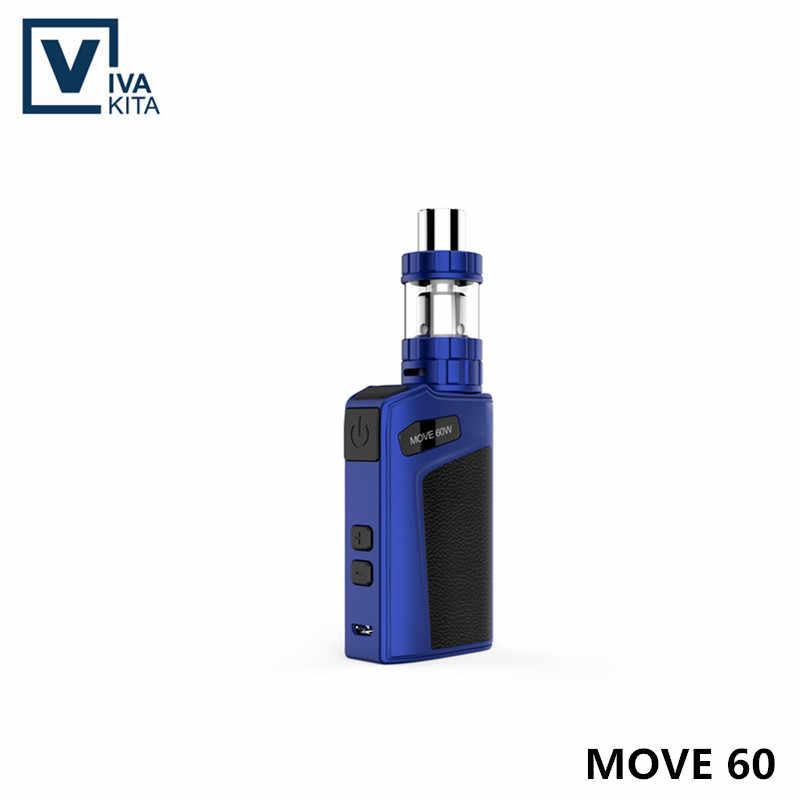 Vivakita Vape Kit 2100mAh Di Chuyển 60 BỘ thuốc lá điện tử được xây dựng trong pin 60W Vape Box Mod 2.0ml VS iStick Ống Giác Hơi Vape