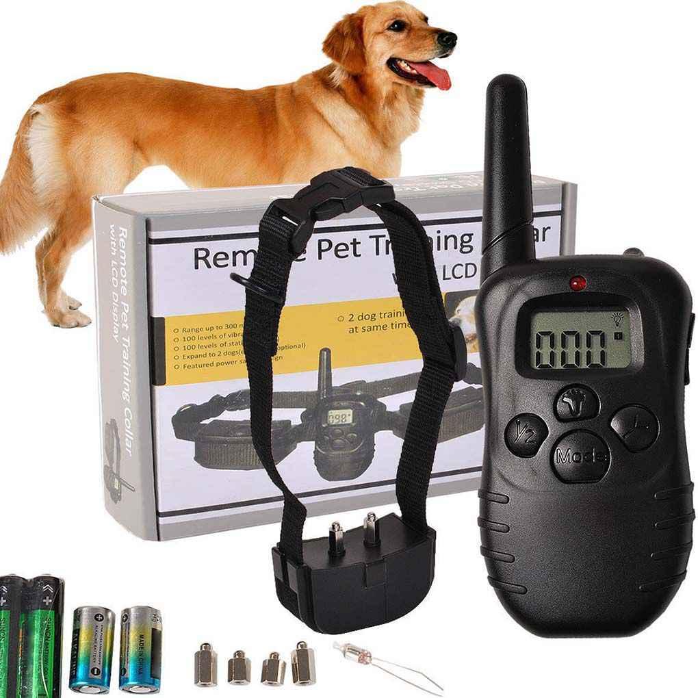 300 metrowa obroża treningowa dla psa zdalna elektroniczna wibracja wstrząsowa LCD Anti Bark obroże