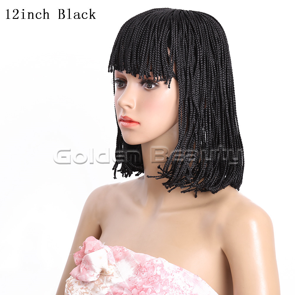 12-Black 210g #1 1B 2 Box braid wig (3)
