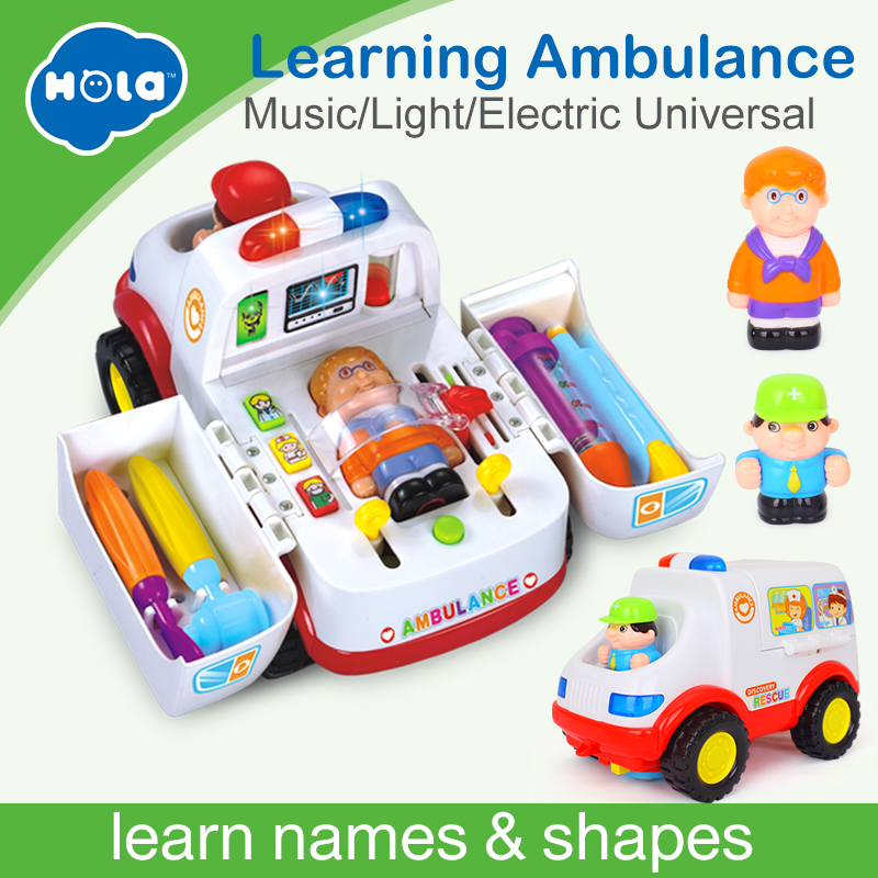 2-in-1 Ambulance Doctor Vehicle Set Baby Toys Pretend Doctor Set and Medical Kit Inside Bump and Go Toy Car with Lights & Sounds aimy child toy doctor box set doctor play set toy with sound and lightsm138o