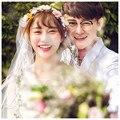 Fashion Bride Hair Bow Hat Wedding Veil Photo Portrait Flower Feather Headdress Hairpin Gauze Cover The Face