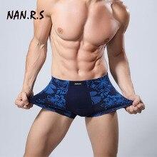NANRS Brand Hot Sale Solid/Floral Classic Bamboo Mens Underwear Boxer Sexy Underwear Men Underwear Boxer Shorts