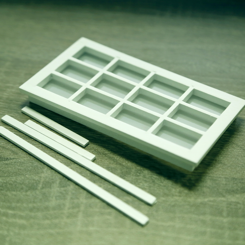 1 12 doll house minimalism white wooden miniature for 12 pane door