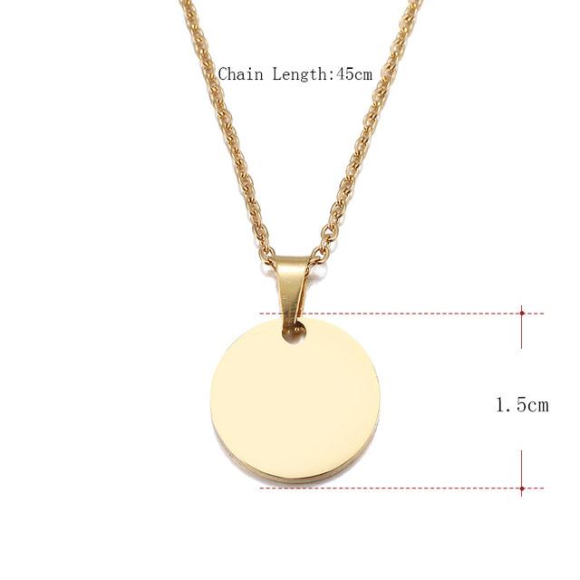 Round Circle Pendant Necklace