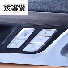 Автомобиль для укладки дверь разблокировать переключатели Обложки Обрезать ручка металлический брелок наклейки для BMW X3 G01 X4 интерьер авто аксессуары