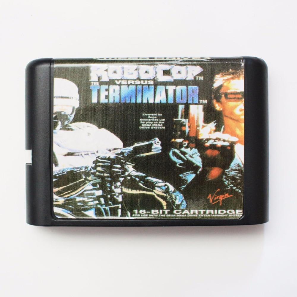 Robocop Versus Terminator 16 bit MD Game Card For Sega Mega Drive For Genesis