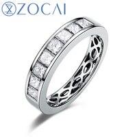 ZOCAI Real 18 K wit goud 1.16 ct gecertificeerde echt diamant wedding vrouwen ring IJ/SI Echt diamant fijne sieraden W05456