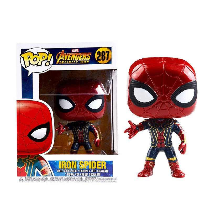 FUNKO POP The Avengers 3: Infinity War & 10cm IRON SPIDER PVC action Figures model gift for the children