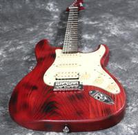 Starshine Mỹ Thương Hiệu Top Chất Lượng ST Stardand BURN Electric Guitar TRO Gỗ Lọc Sắt Pickup Chất Lượng Tốt Tremolo Stain Hoàn Thành