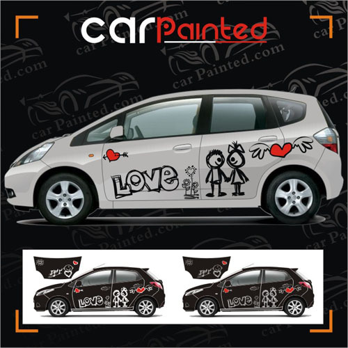 Free shipping new fit love cartoon characters cars car stickers auto love vehicle garland stickers of comic character on aliexpress com alibaba group