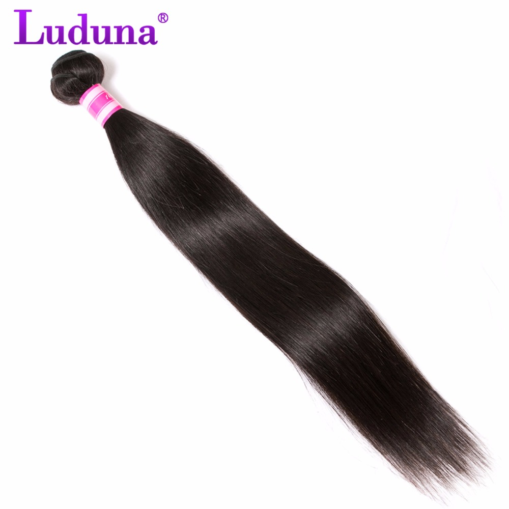 Straight hair perm products - Luduna Hair Peruvian Straight Hair Non Remy Hair Bundles 100 Human Hair Weaving 1pc Natural Color Can Be Permed