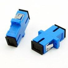 شحن مجاني AB27B 50 قطع SC SC واحد/متعددة البسيط مقرنة شفة sc/upc محول مقرنة ل الاتصالات الرقمية