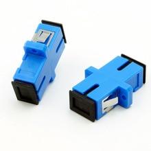 Spedizione gratuita AB27B 50 pz SC SC single/multi modalità simplex flangia accoppiatore SC/UPC adattatore accoppiatore in fibra per comunicazioni digitali