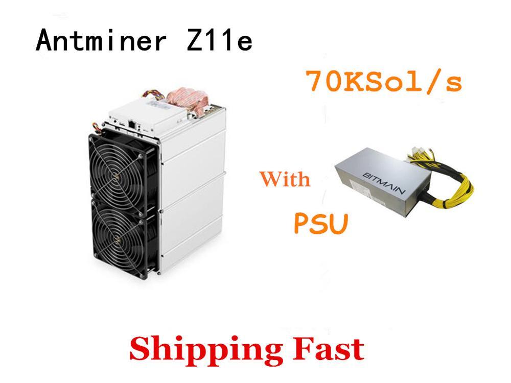 Schiff Schnelle Neue ZEC Miner Antminer Z11e 70k Sol/s Mit NETZTEIL Besser Als Innosilicon A9 Antminer Z9 z11 S9 S11 S15 S17 T17