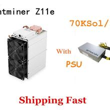 Ship Fast New ZEC Miner Antminer Z11e 70k Sol/s With PSU Better Than Innosilicon A9 Antminer