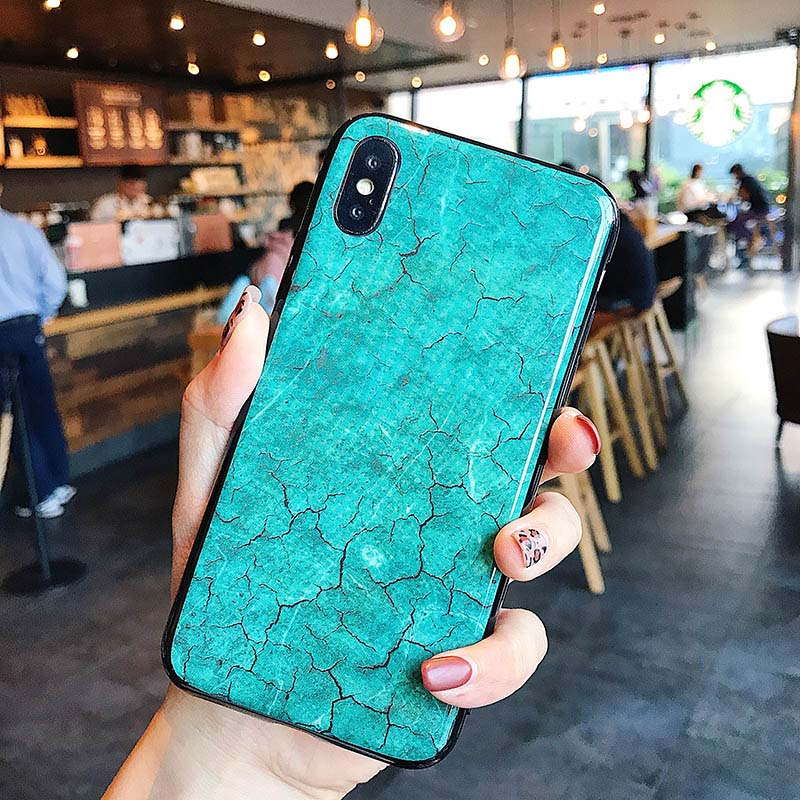 Glitter Marble Case For iPhone 7 8 6 6S Plus X XR XS MAX Soft Silicone Print TPU Shell Pattern Back Cover Phone Cases Coque in Fitted Cases from Cellphones Telecommunications