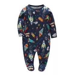 Для маленьких мальчиков одежда с длинными рукавами для маленьких девочек комбинезон для новорожденных малышей 0-12 месяцев Одна деталь