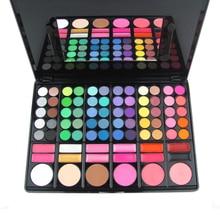 Professional 78 Color Eye Shadow Cheek Blusher Lip Gloss Makeup Palette Kit