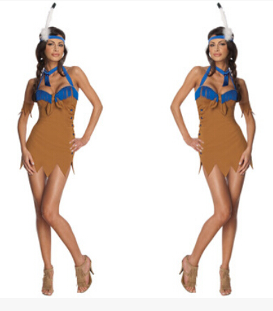 adult sexy nightclub DS women wholesale Clothing indian hot high quality Costume carnival Halloween Cosplay party dress+headwear