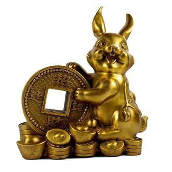 Handicraft Chinese Zodiac YuanBao Rabbit - Handmade Home Decor Collectibles Statue