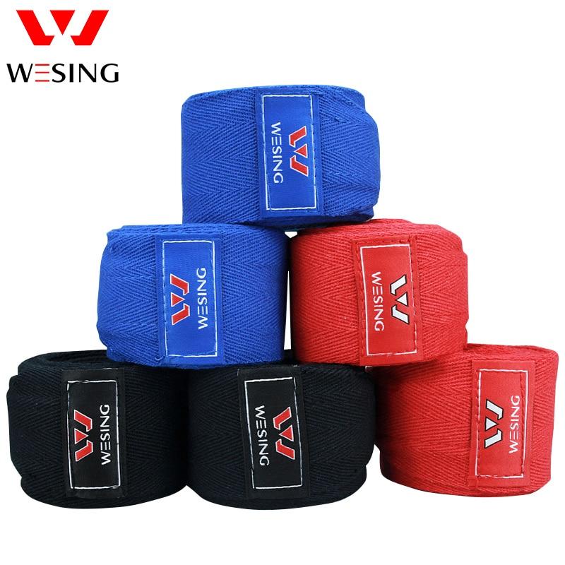 Wesing უფასო გადაზიდვის კრივი ხელისგულებით 100% ბამბა punching ჩანთა ხელის bandage 2.5-5m sanda muay ტაილანდური ხელნაკეთი