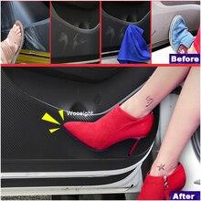 4 pz Auto Styling Anti-kick Pad Protezione In Carbonio Porta Interna Pellicola Autoadesivo Per Hyundai Tucson (TL) 2015-2017