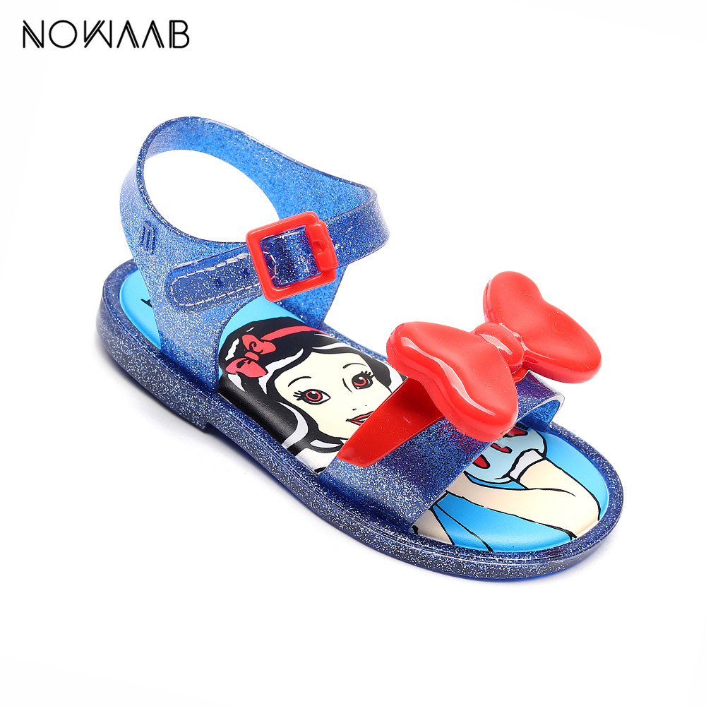Mini Melissa 2019 Summer Girls Jelly Sandals Shoes Girls Snow Princess Sandals Girl Non-slip Kids Beach Style Toddler Sandals