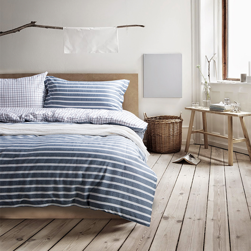 Nautical bedding comforter sets full striped bedding for Luxury cotton comforter sets