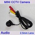 Nueva Plástico Negro Color 6 unids Leds infrarrojos 700Tvl 2.5mm Lente Mini Cámara de Seguridad CCTV Envío Gratis