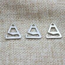 Sliver 9 car mats buckle shoes button bra underwear Brassiere clasp belt buck 11 mm Metal zinc alloy