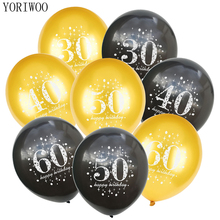YORIWOO 30th 40th 50th Latex Balloon Birthday Party Decorations Adult 30 40 60 18 Air Baloon 16 Happy 50 Years