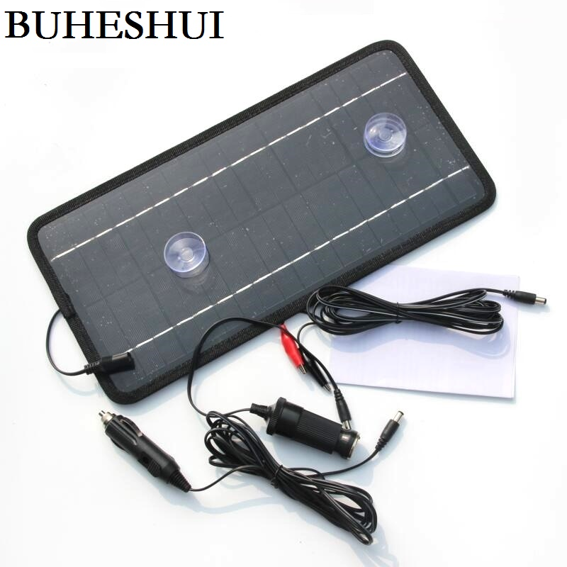 BUHESHUI Portable Solar charger 12V 8.5W Solar Panel Car Boat Motorcycle Motor Vehicle Charger System 12V battery charger