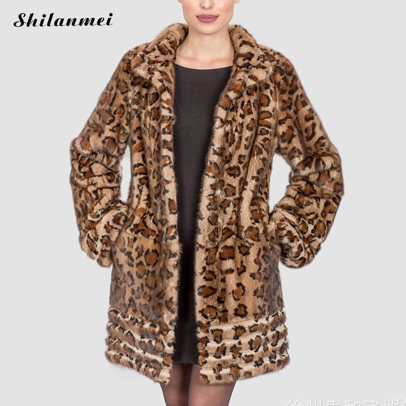cbd19ba5c09 2017 Europe Fashion Women plus size Long Faux Fur Leopard Coat ...