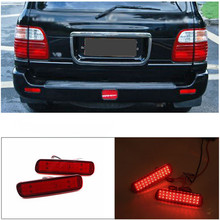 For Toyota Land Cruiser 100/Cygnus LX470 Car LED Rear Bumper Reflector Light LED Parking Warning Stop Brake Lamp Tail Lantern стоимость