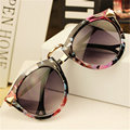 New Fashion Female Round Sunglasses Women Brand Designer vintage sunglass rivet Points Feminine Sun Glasses Female Retro Glasses