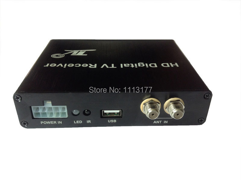 DVB T2 Car 160km/h Double Antenna H.264 MPEG4 Mobile Digital TV Box External USB DVB-T2 Car TV Receiver телеприставка qhisp iptv dvb t2 mpeg4 hd 40 car dvb t2