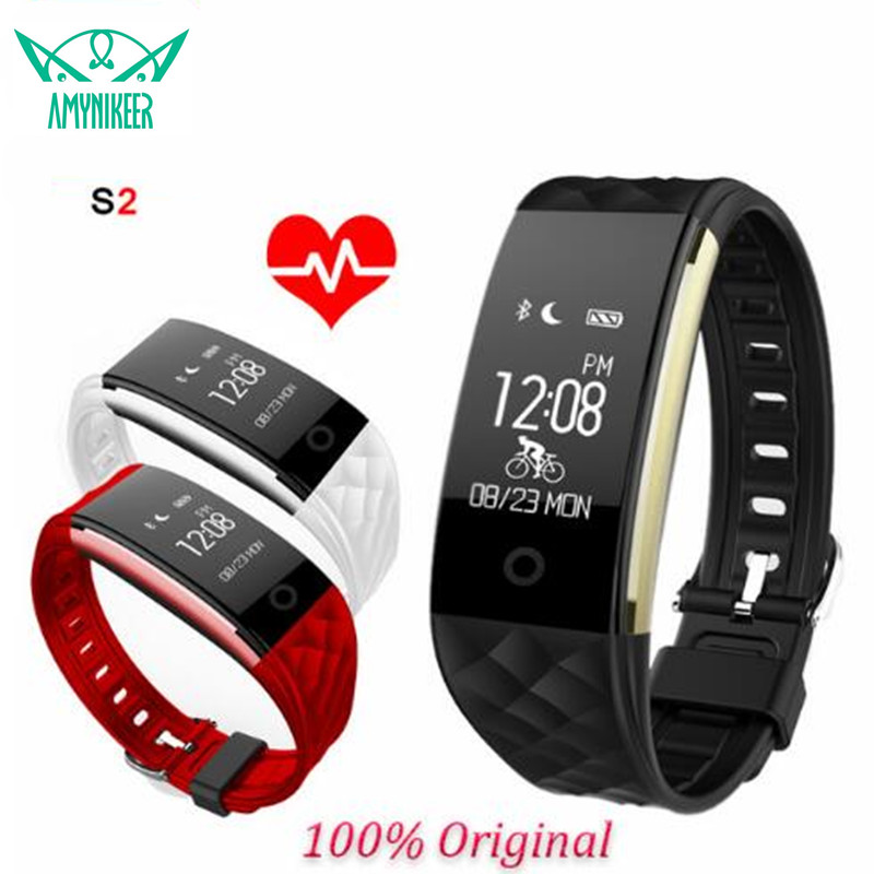 S2 Bluetooth 4.0 Smart Band Браслет Heart Rate Мониторы OLED SmartBand Фитнес шаг браслет для Android IOS Телефон PK fitbits