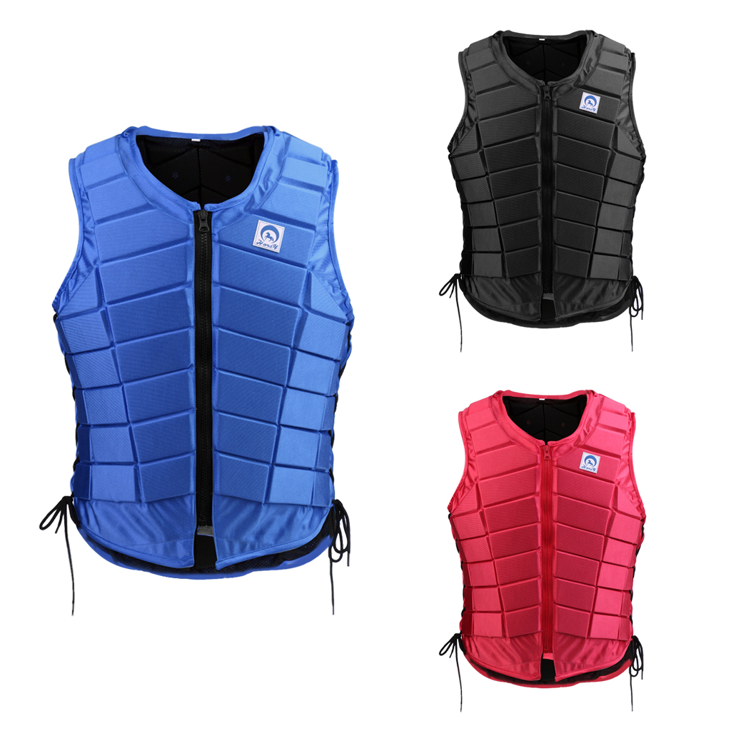 EVA Horse Riding Waistcoat Safe Equestrian Eventer Body Protection Vest for Women Men Kids Riding Armor Protector Vest 3 Colors safety equestrian horse riding vest protective body protector black adult sportswear camping hiking accessories shock absorption