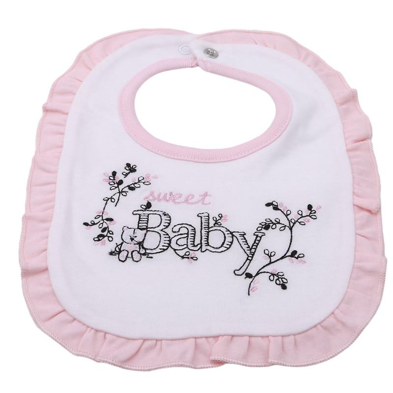1pcs Lovely Newborn Baby Bibs Embroidery Bib Bandana