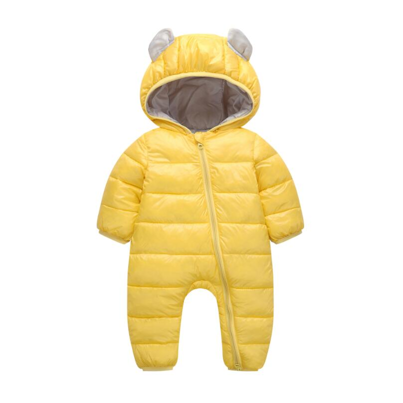 2018 Baby Rompers Winter Autumn Jumpsuit For Kids Newborn Snowsuit Boy Girl Warm Ear Hooded Coats Cotton Children Clothes JW6759
