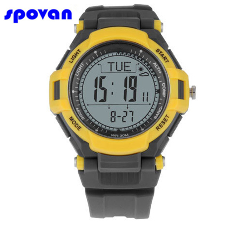 SPOVAN Mens Sport Watch Men Digital Altitude Barometer Compass Thermometer Pedometer Weather Military Watches Relogio MasculinoSPOVAN Mens Sport Watch Men Digital Altitude Barometer Compass Thermometer Pedometer Weather Military Watches Relogio Masculino