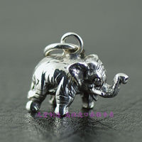 925 Sterling Silver Miniature Three Dimensional Small Elephant Pendants