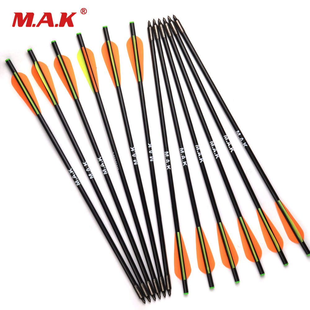 6/12/24pcs 17/20 inch MAK Fiberglass Crossbow Arrow with Diameter 8mm Remove Tips Archery Bow Target Arrow for Hunting/Shooting цена 2017