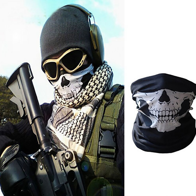 Motorcycle Multifunction Cosplay Ghost Skull mask Helmet Neck Face windproof Mask Wild survival mask Party Funny masks 4