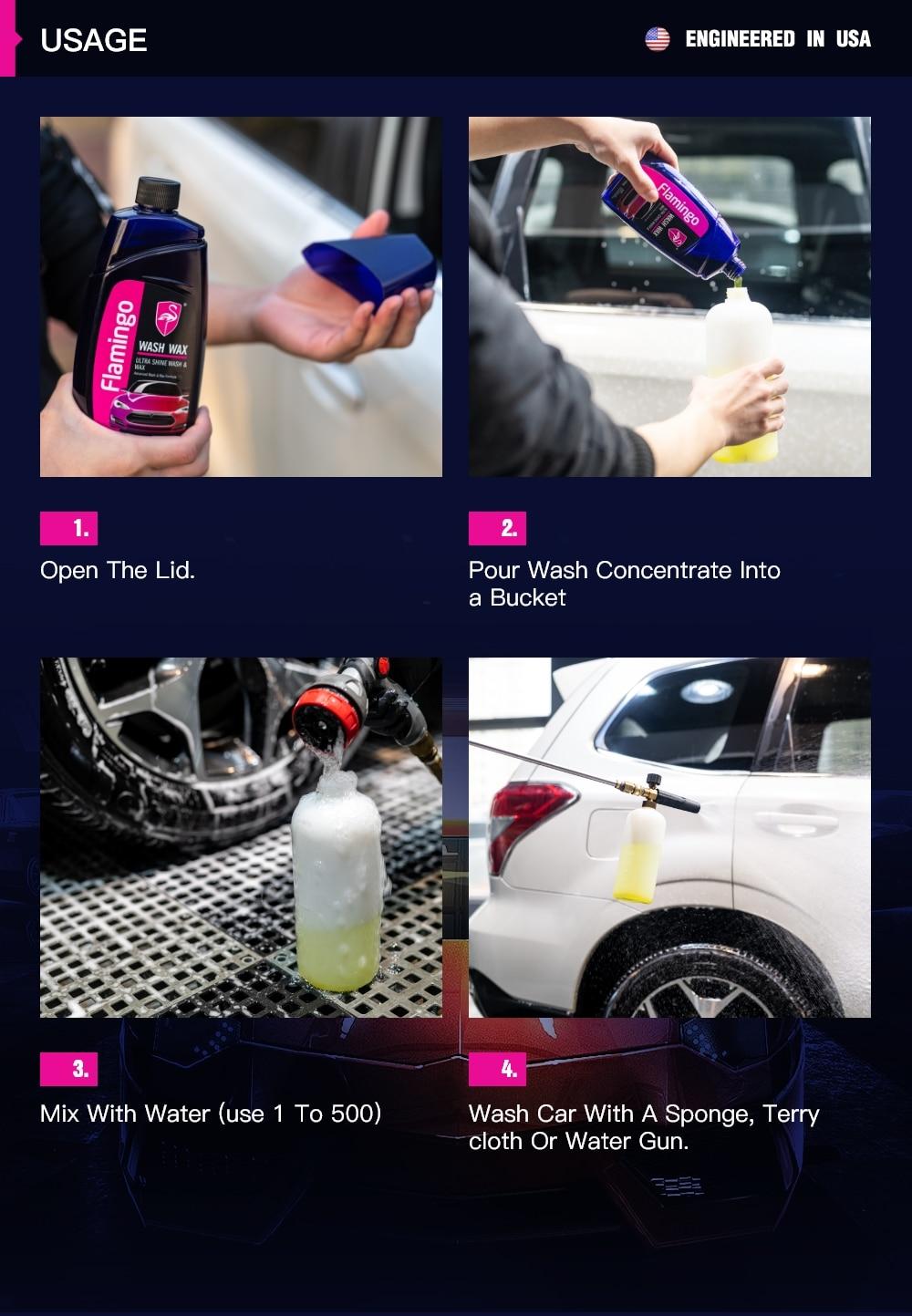 500ml Premium Car Wash Wax Cleaning Product Paint Auto Care Scratch Repair  Detailing Supplies 17 64Oz