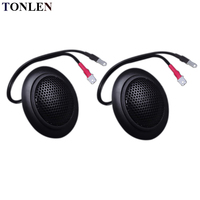 TONLEN 2Pcs 4 Ohm 15 W Tweeter Car Stereo Silk Film Treble HIFI Loudspeaker Unit Fiber