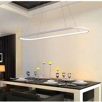 Nordic лаконичный Овальный светодио дный Лофт LED люстра современная мода офис свет теплый Diner бар Подвеска светильники Бесплатная доставка