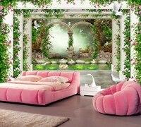 Papel De Parede Beautiful Flower Vine Pastoral Roman 3d Wallpaper Living Room Bedroom Dining Room TV
